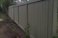 Sage Green Paint 6 Foot Wood Fence