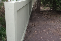 Wood Fence Sage Green Painted